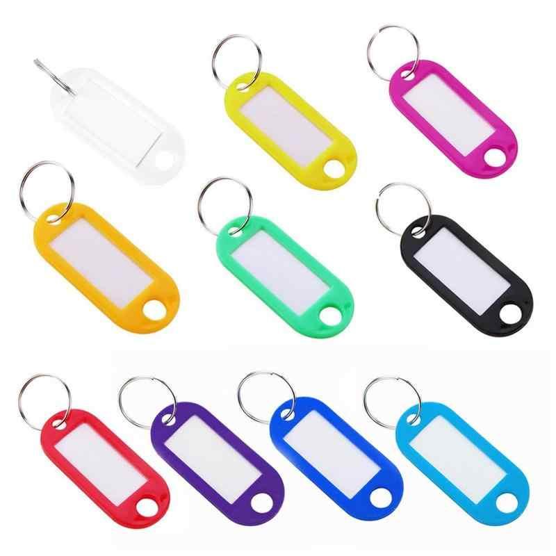 Renkli Plastik Anahtarlık Bagaj KIMLIK Etiketleri Etiketleri Anahtarlık Isim Kartları Birçok Kullanım Için-Demet Tuşları bagaj