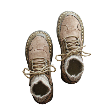 Spring retro art handmade custom soft sole shoes with low-cut shoes casual shoes women