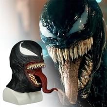 Spider Man Venom Maschera Cosplay Spider Man Edward Brock Scuro Supereroe Veleno di Maschere In Lattice Casco Puntelli Del Partito di Halloween