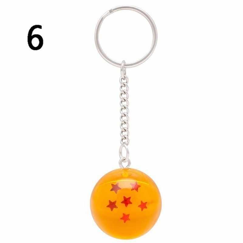 Dos desenhos animados Anime Dragon Ball Z DBZ Chaveiro Criança Cosplay 7 Dragonball Z Estrelas Crystal Ball Chaveiros