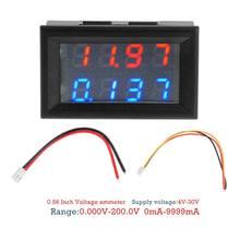 0.28 pouces numérique voltmètre cc ampèremètre 4 bits 5 fils DC 200V 10A tension courant mètre alimentation rouge bleu LED double affichage