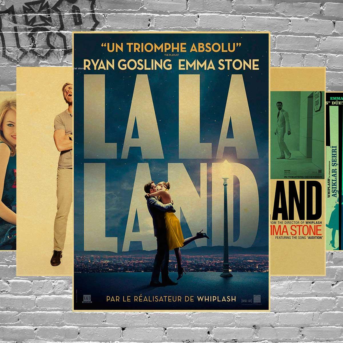 Ла-ла-Ленд Плакаты фильм Винтаж стены дома украшения Крафт Бумага подарки на день рожден ...