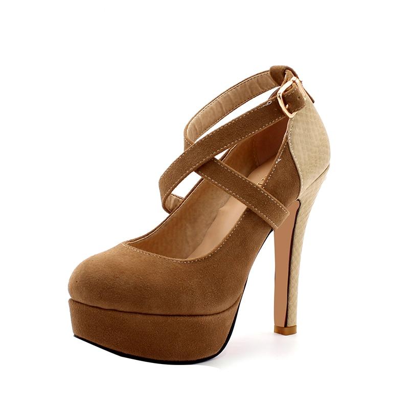 ENMAYER Plataforma de Moda Bombea Sexy Zapatos de tacón alto Tacones - Zapatos de mujer - foto 4
