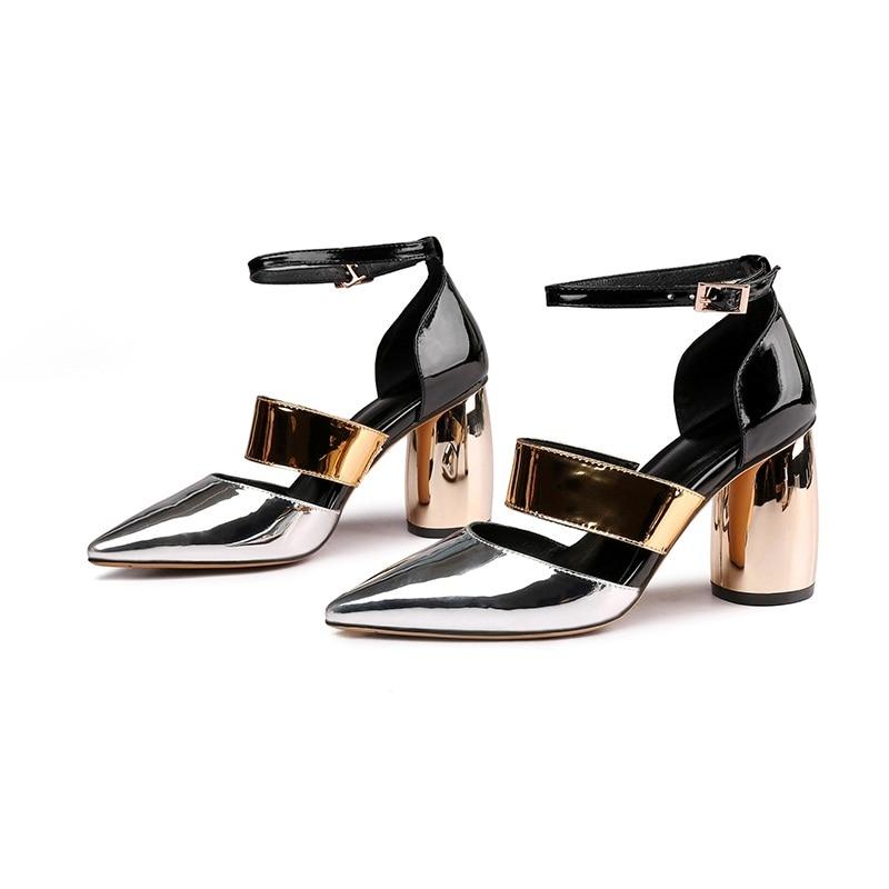 9aa25ae344ed4f Sexy Rome D'été Hauts Robe apricot Pointu Noir Talons Chaussures Épais  Printemps Pour De Black Femme Sandales Femmes Bout Pompes Marque Parti ...