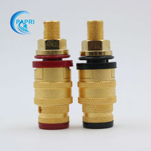 5PAIRS CMC 878M-SE gold-plated OFC binding post ForVacuum Amplifier DAC  speaker  CD Player Speaker