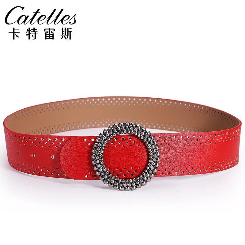 Catelles Wide Belt Female Dress Cummerbund Decoration Skirt Sweater Black Red Wide Strap Female ONE SIZE 4.8cm Wide Cummerbunds