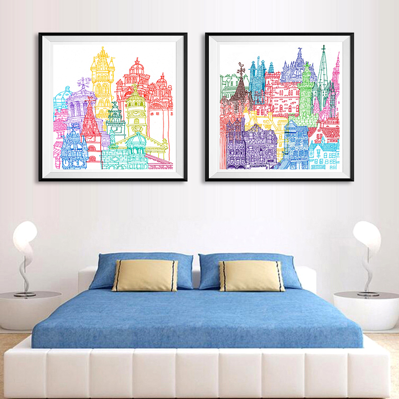 Nordic Minimalist Child Watercolor A4 Large Art Print Poster Cartoon Wall Picture Canvas