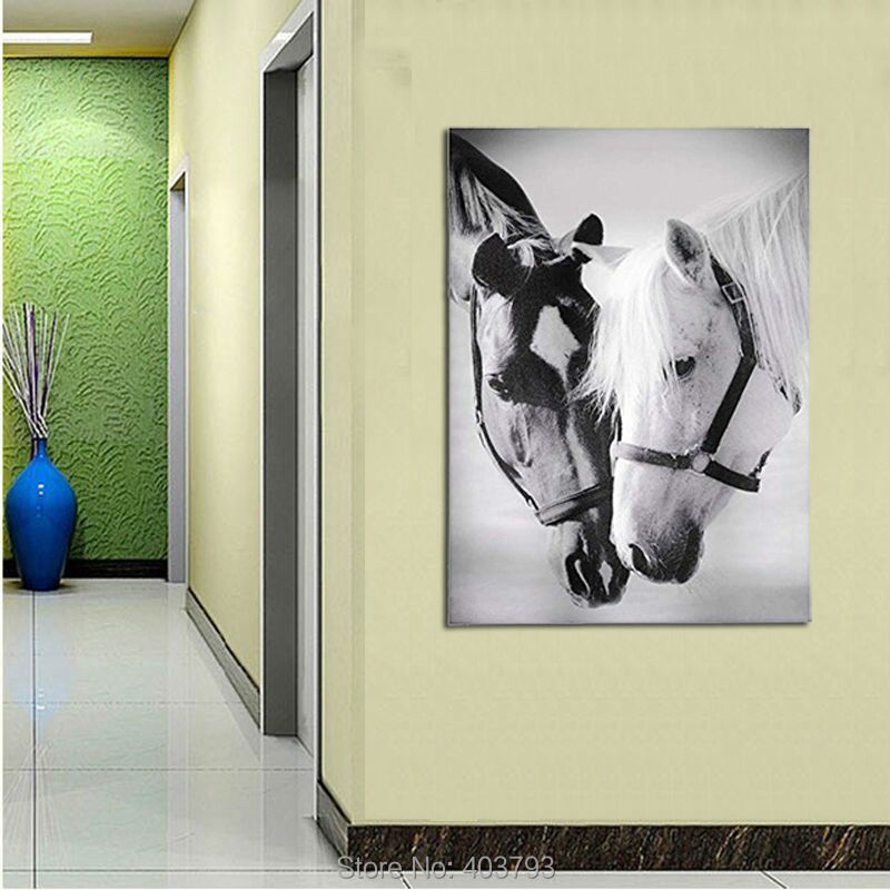 Gift Craft Unframed Canvas Print HD Printed Decorative Horse Pals Pictures Modern Painting For Living Room