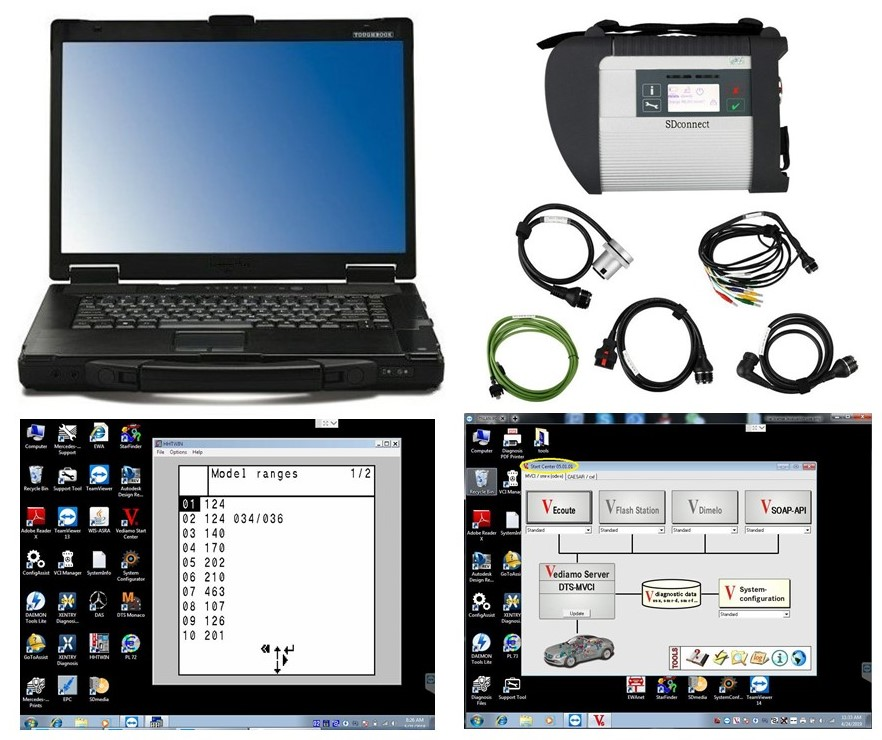 CF52+MB Star C4 SD Connect+HHTWIN HDD/SSD 2019 07 Diagnostics System Compact 4 Mercede Diagnosis Multiplexer For Benz Diagnose