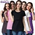 Emoção Mães gravidez roupa de Maternidade T-shirt de Maternidade Superior de Enfermagem de enfermagem top roupas de enfermagem Amamentação para as mulheres grávidas