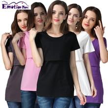 Émotion Mamans la grossesse De Maternité vêtements Haut De Maternité haut D'allaitement vêtements d'allaitement Allaitement T-shirt pour les femmes enceintes