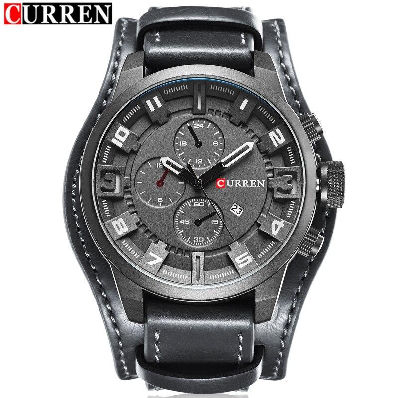 2017 CURREN Hommes Montres Top Marque De Luxe De Mode Casual Sport Quartz Hommes Montre-Bracelet Militaire Horloge Mâle Relogio Masculino