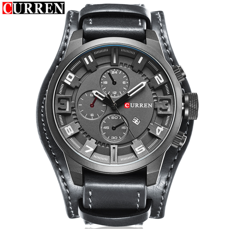 Buy 2017 curren mens watches top brand luxury fashion casual sport quartz watch for Curren watches