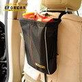 50 pcs Assento Preto Sacos do Organizador Pendurado Saco de Armazenamento de Viagem À Prova D' Água Car Bin Lata De Lixo Titular Portátil Para O Caminhão Do Carro EA1324