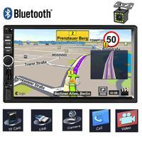 New 2 Din Car Central Multimedia Player GPS Navigator Car Radio Bluetooth MP5 Player Automotivo DVD AUX USB SD Car Audio Stereo