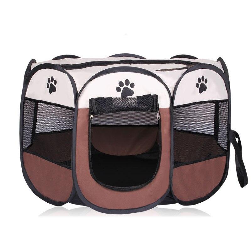 HOT Portatile Pieghevole Pet tenda Casa Del Cane Gabbia Cane Gatto Tenda Box Cucciolo Canile Funzionamento Facile Ottagonale Recinto all'aperto forniture