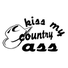 15*8.5cm Kiss My Country Ass Western Motorcycle SUVs Bumper Car Window Laptop Vinyl Decal Sticker(China)