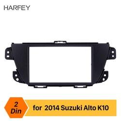 Harfey 2Din Auto Frame Stereo Panel Inbouwen Trim Kit Fascia voor SUZUKI ALTO K10 UV Mount Kit 173*98 /178*100/178*102mm Zwart