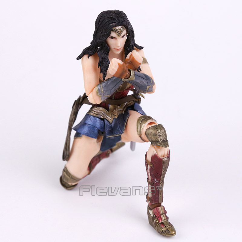 DC Comics Variant Play Arts Kai Wonder Woman PVC Action Figure Collectible Model Toy variant play arts kai dc comics no 4 the flash pvc action figure collectible model toy 26cm kt3349