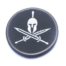 10pcs/lot 3D Embroidery armband Loop And Hook Helm of Sparta patches Sparta armband Tactical Patches Military Morale Armband wholesale 50 100 pieces military pvc patches velcro rubber armband 3d tactical badge patches for backpack hat clothes jacket