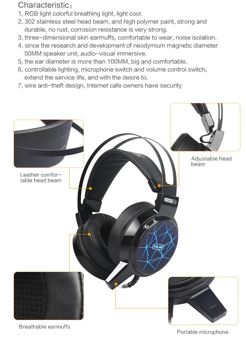 salar c13 gaming headset wired pc stereo earphones Salar C13 Gaming Headset Wired PC Stereo Earphones HTB1XWU8O7voK1RjSZPfq6xPKFXah