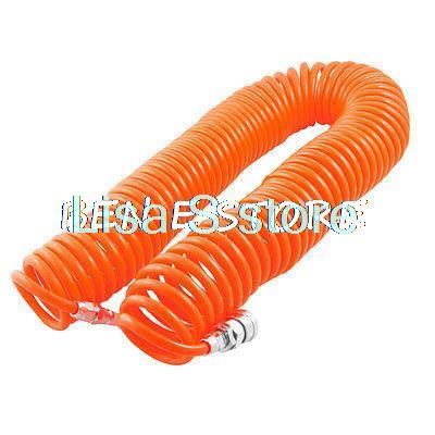 Hot Orange Pneumatic Spiral Hose12M 8mm x 5mm Quick Connector Air Compressor Recoil Hose Tubing 3 8 bsp female air compressor pneumatic quick coupler connector socket fittings set