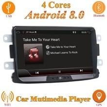 1 din android 8.0 car multimedia player per duster radio stereo lettore di cassette tape recorder wifi SWC macchina fotografica di retrovisione, canbus
