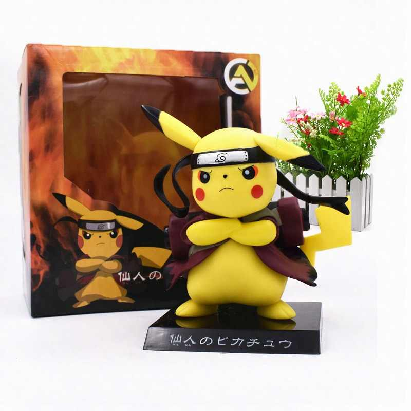 Anime Pikachu Cosplay Naruto Action Figure PVC Figurine Collectible Model Christmas Gift Toys 15 cm
