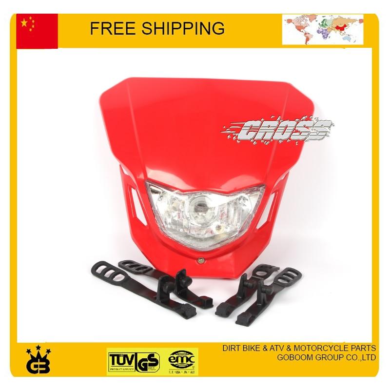 X2 T4 T8 CQR GY KTM kepala sepeda motor lampu kepala dipimpin topeng - Lampu mobil - Foto 4