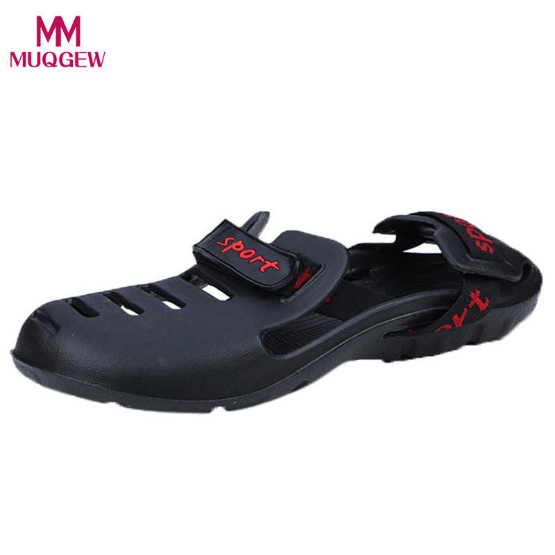 64523bb3a Summer Shoes Men s Sandals New Fashion Casual Slippers Outdoor Beach  Slippers Comfort Sandals Male Outdoor Hole