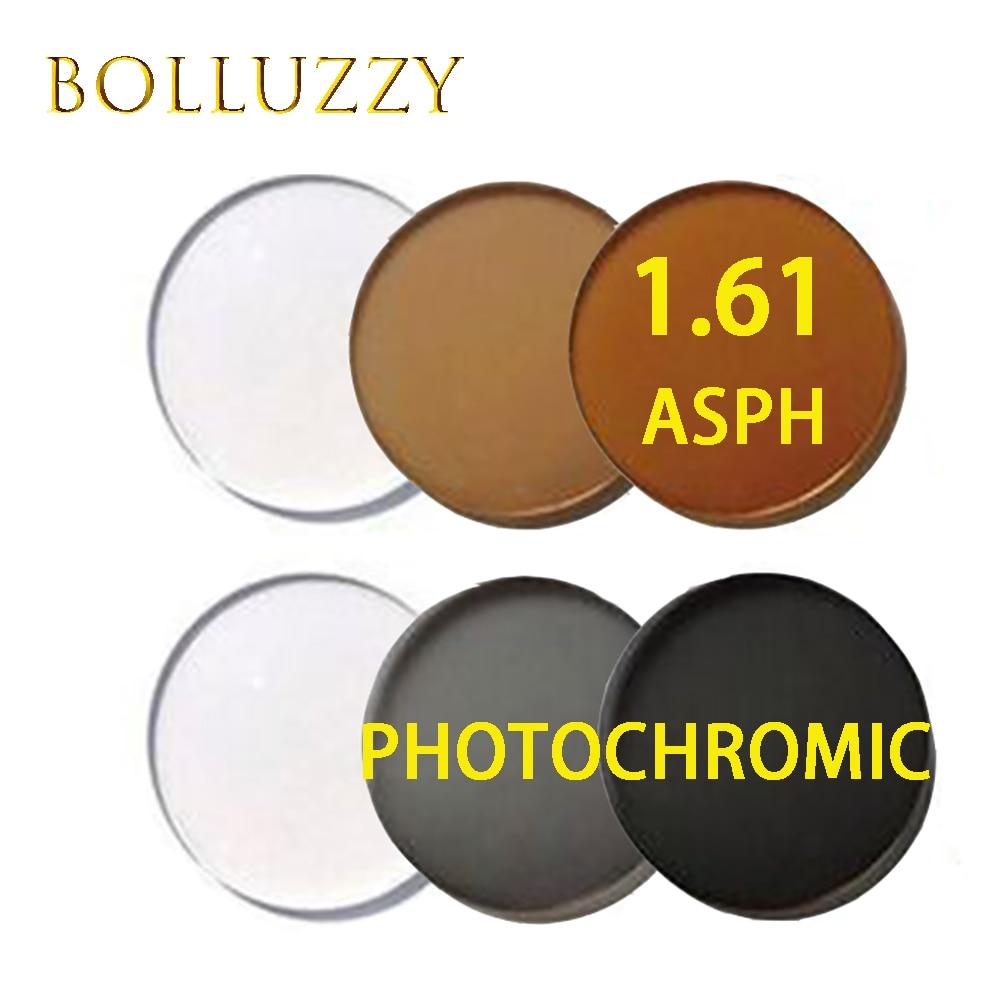 Lentilles photochromiques de prescription d'index 1.61 lentilles photochromiques optiques d'asph de surface asphérique de haute qualité