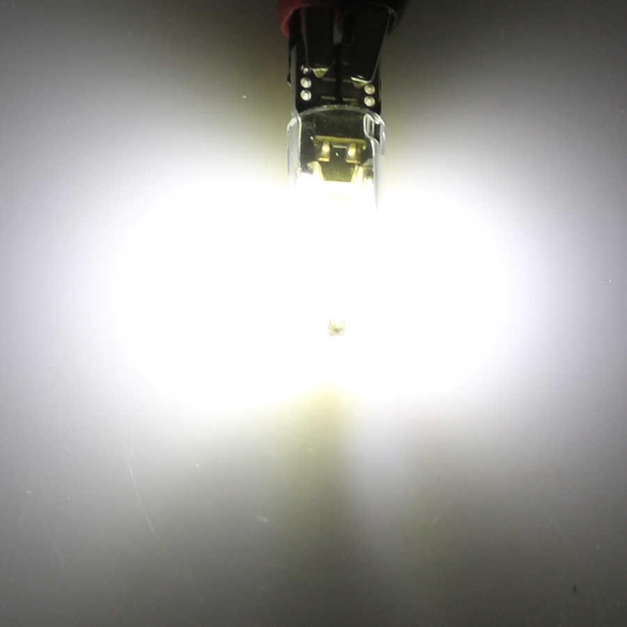 Yccpauto 10 pçs t10 194 168 w5w lâmpadas led cob filamento luz do carro auto marcador lateral luz da placa de licença lâmpada leitura 12 v vidro