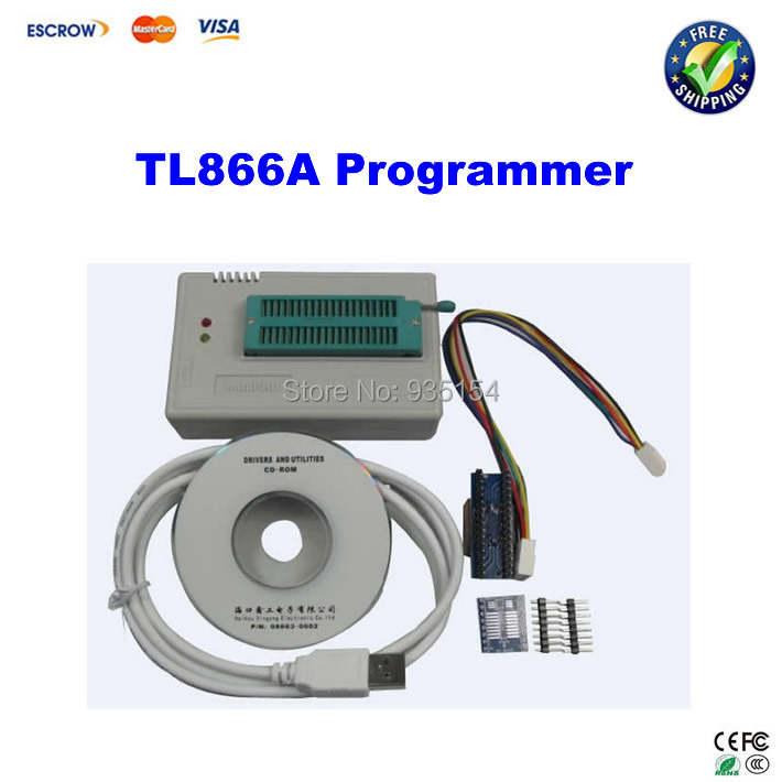 100% Original MiniPro HighSpeed USB eeprom TL866A programmer device with ICSP interface cable and adapters 2017 free shipping 100% original tl866a bios usb universal programmer icsp flash eeprom english