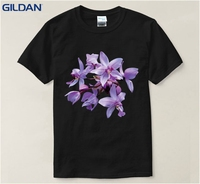 Beautiful Orchid Mens T Shirt Fashion 2017 Sunlight 100 Cotton Tshirt Euro Size HipHop Tops T