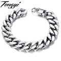 Casual Men's High Quality Stainless Steel Bracelet Silver Link Bracelet 3/6/8 mm width and 21/22/20cm length 720