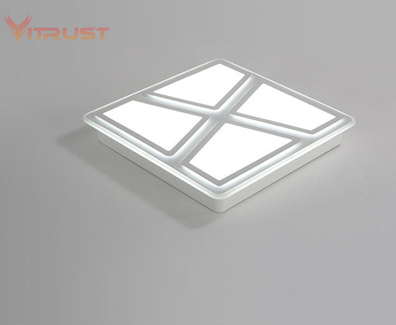 Brief acrylic LED Ceiling Lights Ultrathin ceiling lamp For Living Study Room lamparas de techo Bedroom AC110 240V in Ceiling Lights from Lights Lighting