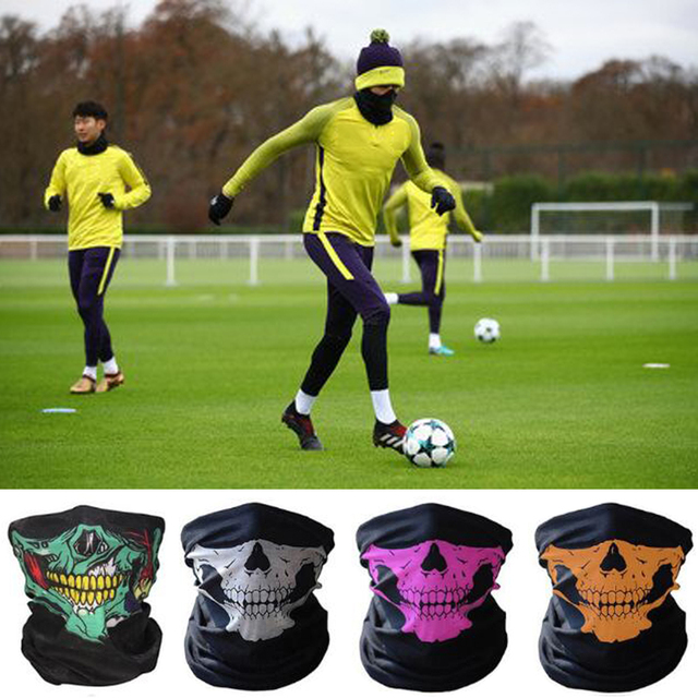 SKULL Ghost Face Scary mask Windproof Outdoor Sports football dust-proof Caps soccer training masks Scarf Skeleton party mask