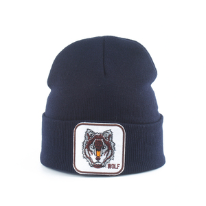 Image 2 - Yeni kurt hayvan bere erkekler sıcak örme kışlık şapkalar kadınlar için Gorra Hip hop Skullies Bonnet Unisex kap Dropshipping