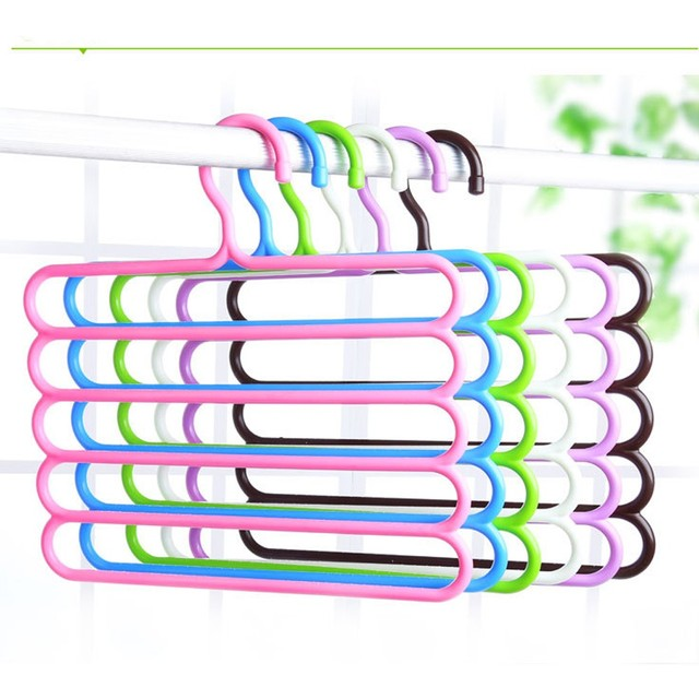 1PC New Style Home Living Multi-layer Hanging Pants Racks Multiusage Scarf Holder Clothes Hanger Skid Innovation Storage Rack