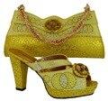 Новое Прибытие Моды Rhinestone Красивые Туфли И Сумка Набор Итальянской летний Стиль Обувь И Соответствующие Сумки Для Партии MM1007