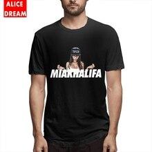 Casual New Arrival T shirt MenMan MIA KHALIFAMIA KHALIFA T-shirt Short Sleeve Pure Cotton S-6XL Plus Size Homme Shirt