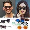 Das Mulheres Dos Homens do vintage Retro Óculos Redondos Óculos de Metal Moldura de Espelho Lens óculos de Sol Eyewear-J117