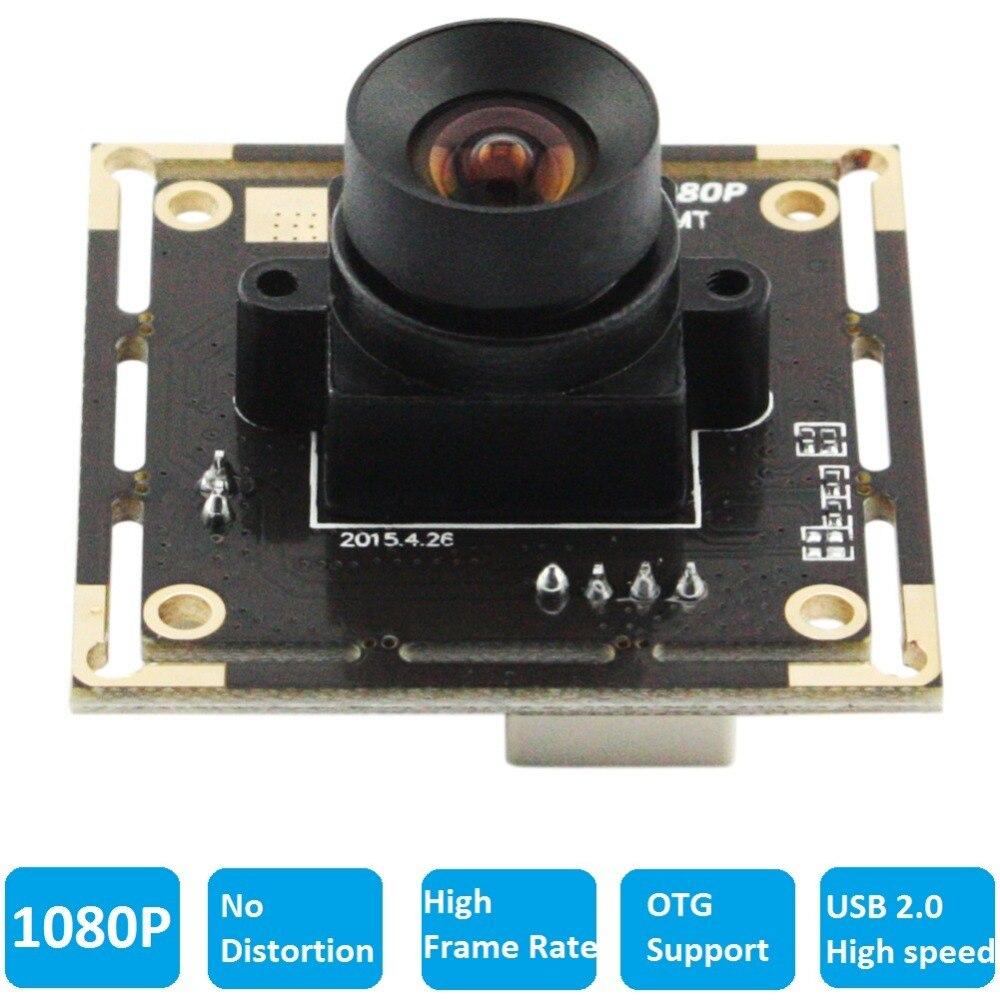 1080 P Haute Vitesse Sans distorsion Lentille 2MP Full HD Mini USB 2.0 Caméra Module Pour Android, Linux, Windows, MAC OS