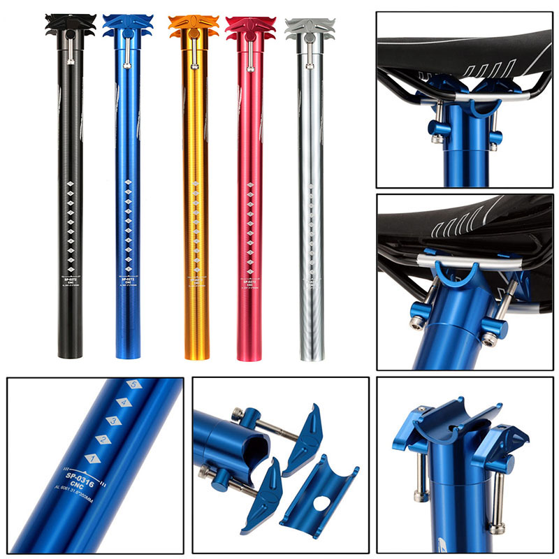 Aluminium Alloy Bicycle Seatpost GUB Lightweight MTB Mountain Road Bike Seat Post 27.2/30.9/31.6*385mm Bicycle Parts