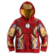 2016 The Avengers 1Pcs Boy's Fashion Jacket&Coat,Baby Boy's Thor Cosplay Jacket Kids Captain America jackets.Boys hoodies