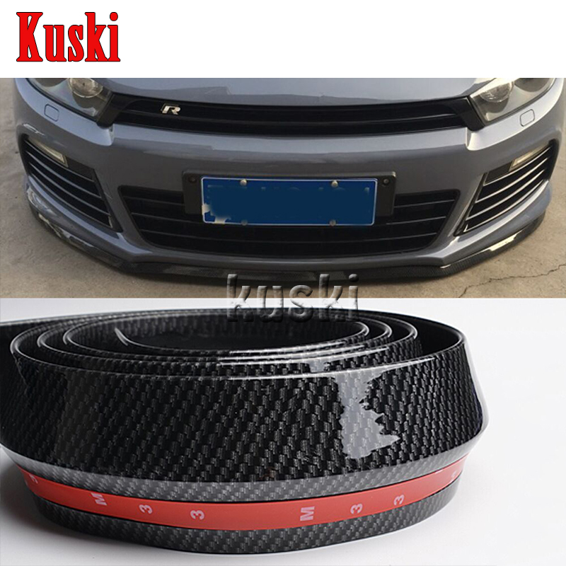 2.5m Car Front Chin Spoiler Stickers For Volkswagen VW Polo Passat B5 B6 CC Golf 4 5 6 7 Touran T5 Tiguan Scirocco Accessories car seat cushion three piece for volkswagen passat b5 b6 b7 polo 4 5 6 7 golf tiguan jetta touareg beetle gran auto accessories