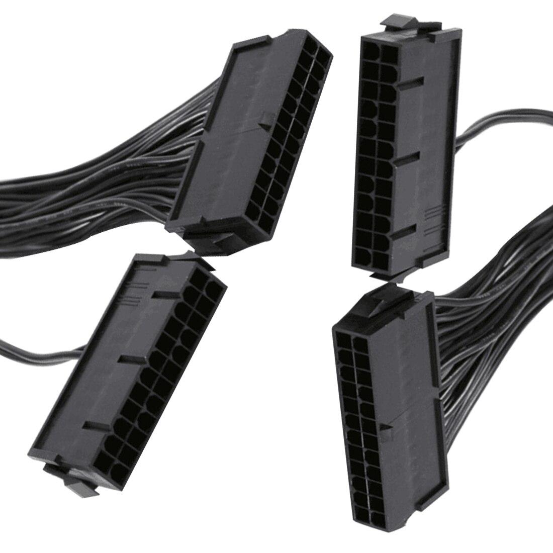 Dewtreetali 24Pin mining двойной PSU адаптер ATX Питание кабельный разъем для добычи 30 см 20 + 4PIN Автомобиль Электронные аксессуары