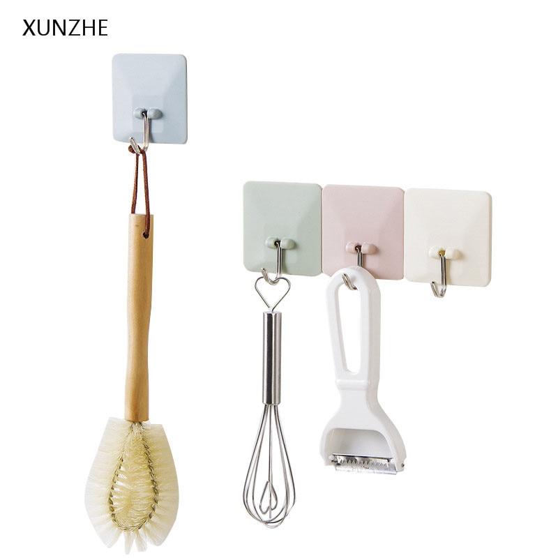 XUNZHE 5 шт. многоцелевой самоклеющиеся Уолл дверь крючки ювелирных ключ разное организовать висит крючки Ванная комната Кухня аксессуары