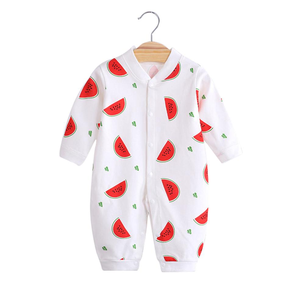 Baby Onesies Combed Cotton Printing Long sleeved Jumpsuit for boys and girls Newborns Home Wear in Rompers from Mother Kids