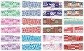 En venta!! 1 lote por 10 artículos 12 Nuevo Estilo Nail Art Water Sticker Navidad bufanda en 2016 para BN241-252